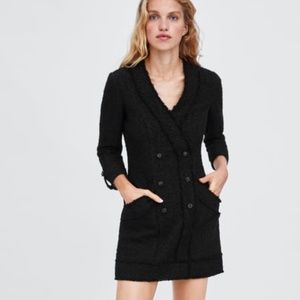 🍒NWT🍒 ZARA TWEED BLAZER DRESS MINI XS